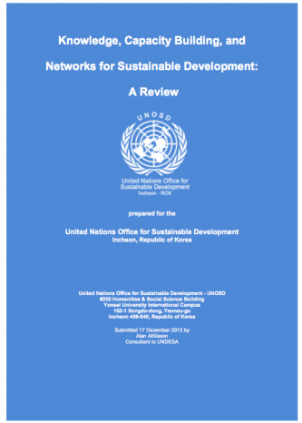 Knowledge, Capacity Building, and Networks for Sustainable Development